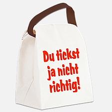 Du tickst ja nicht richtig! Canvas Lunch Bag
