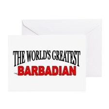 """""""The World's Greatest Barbadian"""" Greeting Cards (P"""