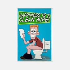 Happiness is a Clean Wipe Rectangle Magnet