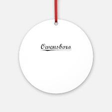 Owensboro, Vintage Round Ornament