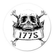Grunge Skull Front Round Car Magnet