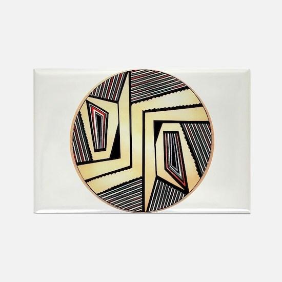 MIMBRES DOORS BOWL DESIGN Rectangle Magnet