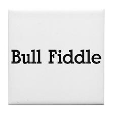 Bull Fiddle Tile Coaster