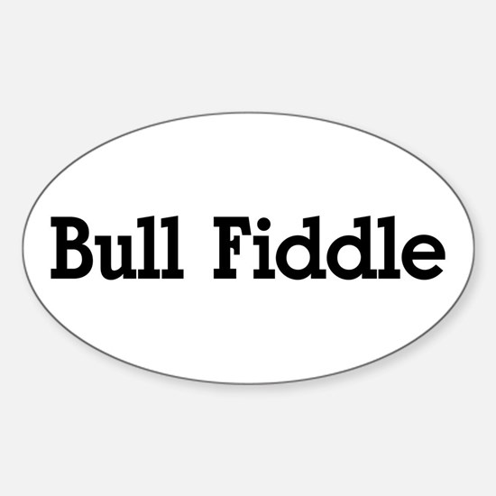 Bull Fiddle Oval Decal