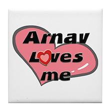 arnav loves me  Tile Coaster