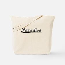 Paradise, Vintage Tote Bag