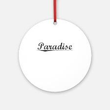 Paradise, Vintage Round Ornament