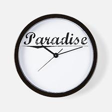 Paradise, Vintage Wall Clock