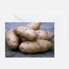 Potatoes (Solanum tuberosum 'Anya') Greeting Card