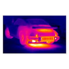 Porsche car, thermogram Decal