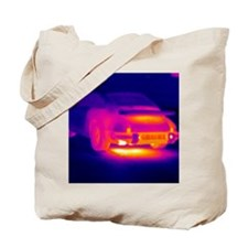 Porsche car, thermogram Tote Bag