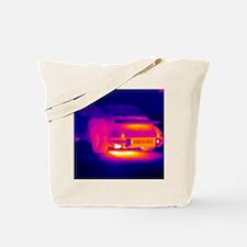 Porsche car, thermogram Tote Bag