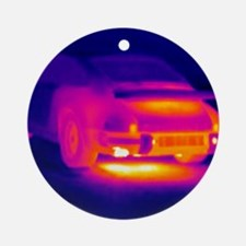 Porsche car, thermogram Round Ornament