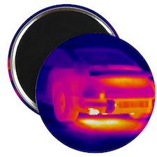 Porsche car, thermogram Magnet