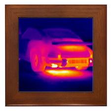 Porsche car, thermogram Framed Tile