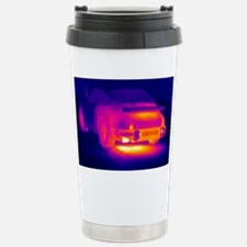 Porsche car, thermogram Stainless Steel Travel Mug