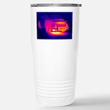 Porsche car, thermogram Travel Mug