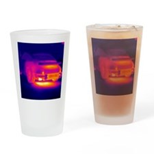 Porsche car, thermogram Drinking Glass