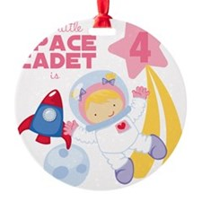 Girl Astronaut is 4 Ornament