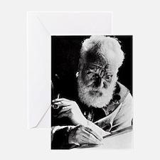 Portrait of Alexander Graham Bell Greeting Card