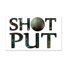 Shot Put Rectangle Car Magnet