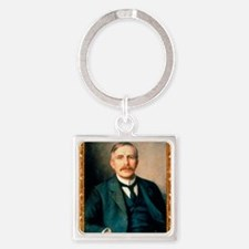 Portrait of physicist Ernest Ruthe Square Keychain
