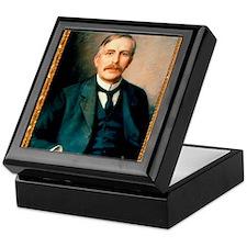 Portrait of physicist Ernest Rutherfo Keepsake Box