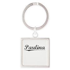Paulina, Vintage Square Keychain