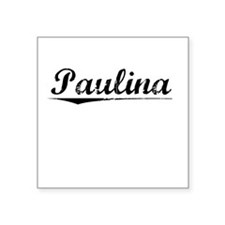 "Paulina, Vintage Square Sticker 3"" x 3"""