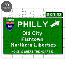 I95 INTERSTATE EXIT SIGN - PHILADELPHIA - E Puzzle