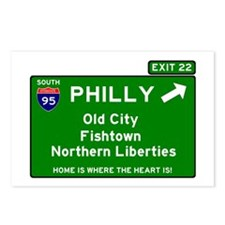 I95 INTERSTATE EXIT SIGN  Postcards (Package of 8)