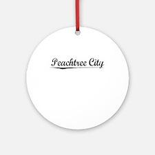 Peachtree City, Vintage Round Ornament
