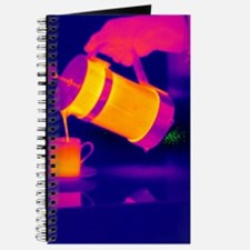Pouring coffee, thermogram Journal