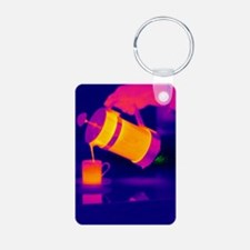 Pouring coffee, thermogram Keychains