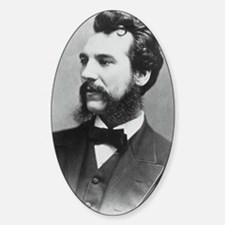 Portrait of Alexander Graham Bell Sticker (Oval)