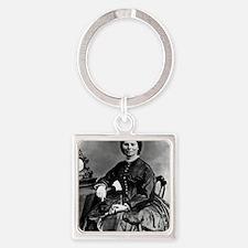Portrait of Clara Barton Square Keychain