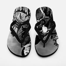 Portrait of Clara Barton Flip Flops