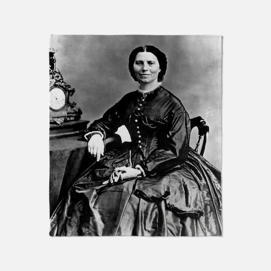 Portrait of Clara Barton Throw Blanket