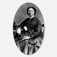 Portrait of Clara Barton Sticker (Oval)
