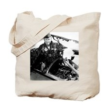 Portrait of Charles Chuck Yeager, America Tote Bag