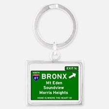 I95 INTERSTATE EXIT SIGN - BRON Landscape Keychain