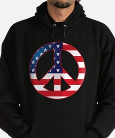 American Flag Peace Sign Hoodie (dark)