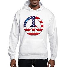 American Flag Peace Sign Hoodie