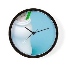 Prebiotic and probiotic yoghurt drink Wall Clock