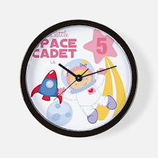 Girl Astronaut is 5 Wall Clock