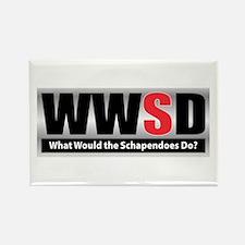 WW the Schapendoes D Rectangle Magnet