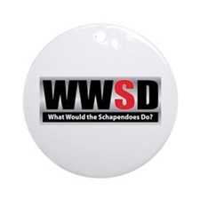 WW the Schapendoes D Ornament (Round)