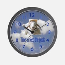 Feed the Goats Wall Clock