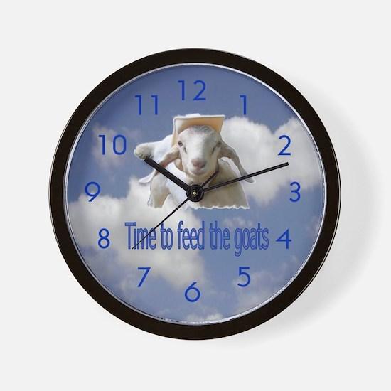 Feed the Goats Wall Clock