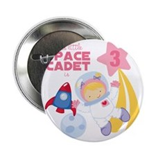 """Girl Astronaut is 3 2.25"""" Button"""